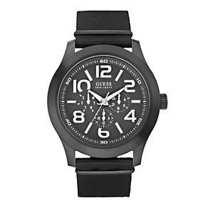 Guess Men's Black Strap Watch - Product number 9246657