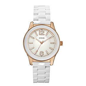 Guess Ladies' White Bracelet Watch - Product number 9246665