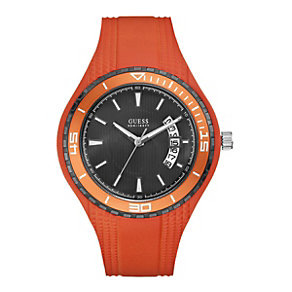 Guess Men's Orange Strap Watch - Product number 9246789
