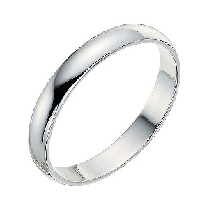 9ct white gold 3mm wedding ring - Product number 9248420