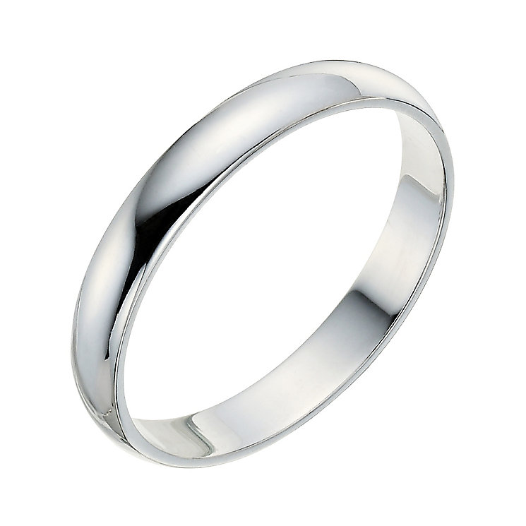 9ct white gold 3mm wedding ring ernest jones