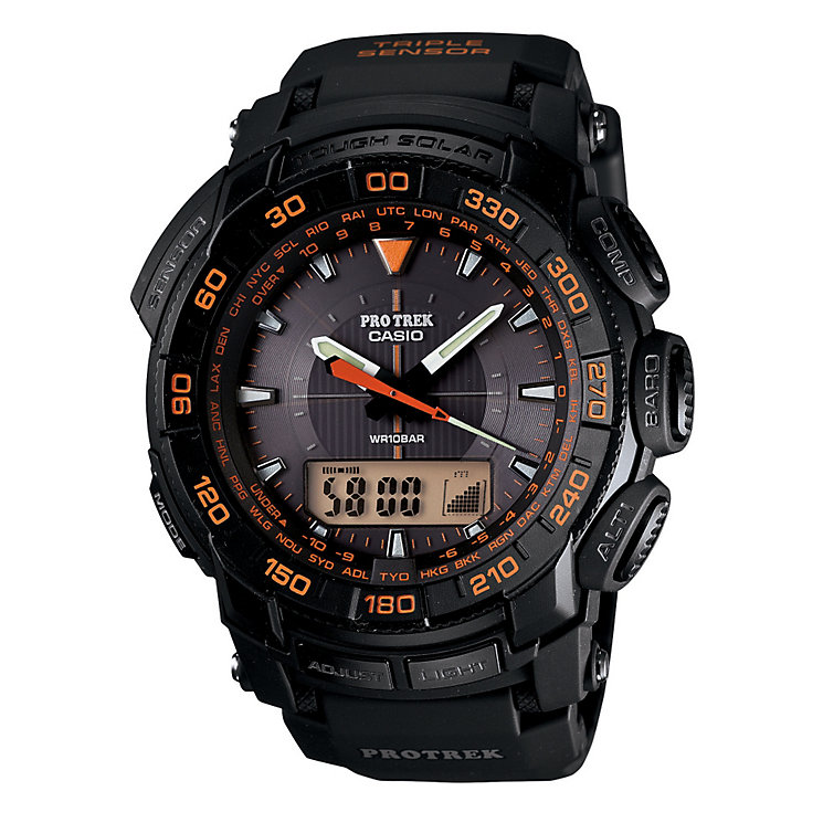 Casio Protrek Orange & Black Strap Watch - Product number 9248773