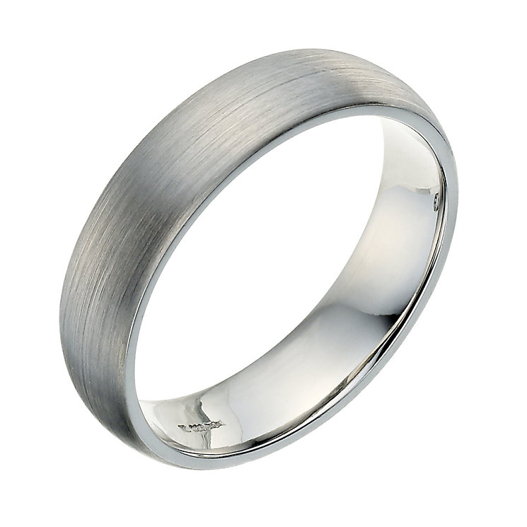 Palladium 950 5mm Satin Court Ring Product Number 9250603