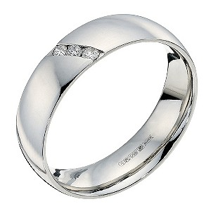 Palladium diamond set wedding ring - Product number 9250948