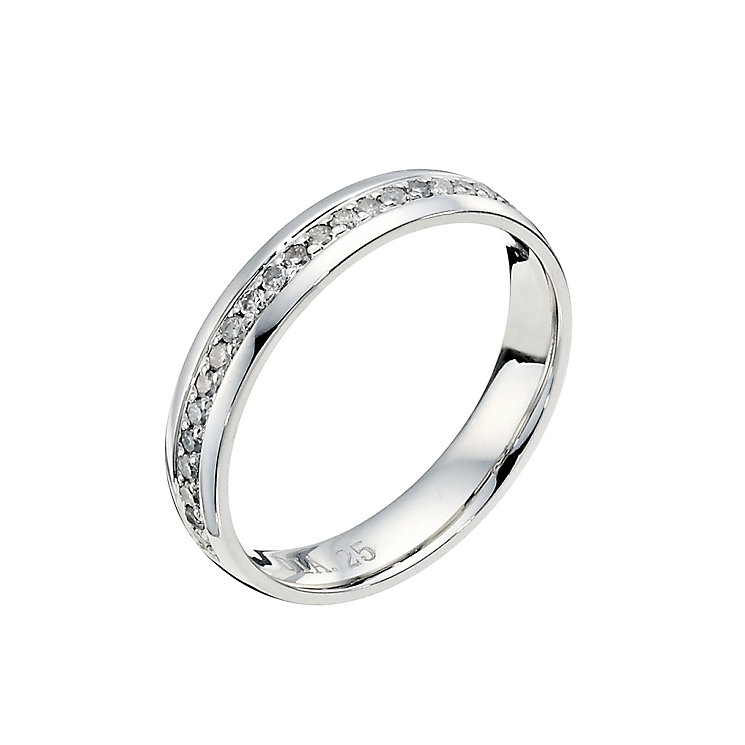 Platinum 0.25ct diamond wedding ring - Product number 9251464