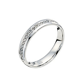 Platinum 0.25ct diamond wedding ring - Product number 9251464