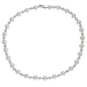 Silver & Cultured Freshwater Pearl Necklace - Product number 9252843