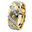 Royal Duet 18ct Two Colour Gold 0.59ct Diamond Wedding Band - Product number 9253459