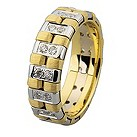 Royal Duet 18ct Two Colour Gold 0.40ct Diamond Wedding Band - Product number 9253882