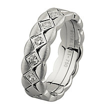 Royal Duet 18ct White Gold 0.15ct Diamond Wedding Band - Product number 9254021
