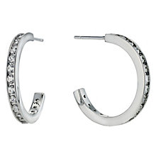 Silver cubic zirconia Creole earrings - Product number 9254307
