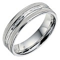 Sterling Silver Patterned Groom Ring 6mm - Product number 9254471