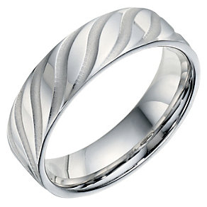 Sterling Silver Patterned Men's Band 6mm - Product number 9254668