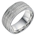 Sterling Silver Patterned Men's Band 9mm - Product number 9255338