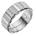 Sterling Silver Patterned Groom Ring 7.9mm - Product number 9255613