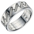 Sterling Silver Patterned Men's Band 7.55mm - Product number 9255915