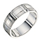 9ct white gold 7mm patterned wedding ring - Product number 9257721
