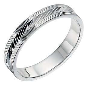 Sterling Silver Patterned Men's Band 5mm - Product number 9258124