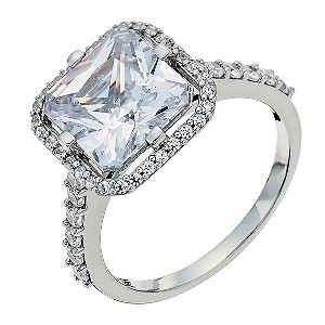Silver cushion cut cubic zirconia ring - Product number 9258485