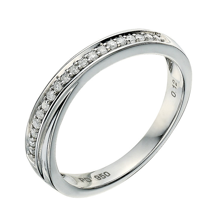 Palladium 950 12 Point diamond crossover ring - Product number 9258809