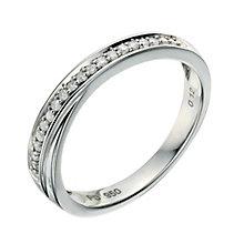 Palladium 950 12 Point diamond crossover ring - Product number 9258809