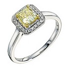 18ct white & yellow gold 0.88 carat lemon diamond ring - Product number 9260390