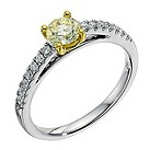 18ct two colour gold 0.62 carat lemon and white diamond ring - Product number 9260668