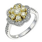 18ct gold 1.05 carat lemon & white diamond ring - Product number 9260927