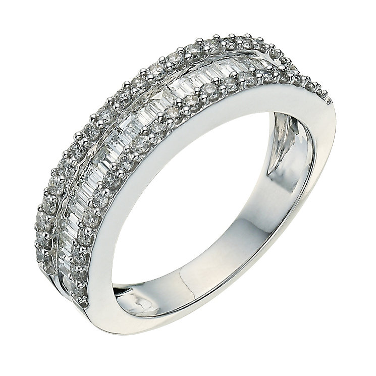 18ct white gold 1 carat baguette diamond ring - Product number 9261192