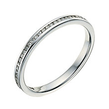 9ct white gold channel set 10 point diamond wedding ring - Product number 9261710