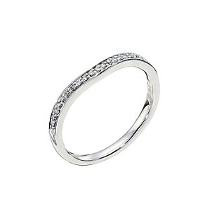 Platinum pave set diamond shaped wedding ring - Product number 9262644