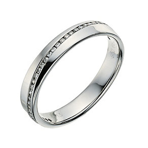 Palladium 950 13 point diamond set wedding ring - Product number 9262776