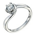 9ct white gold 2/3 ct diamond solitaire ring - Product number 9263764