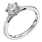 Platinum 1 carat diamond solitaire ring - Product number 9263896