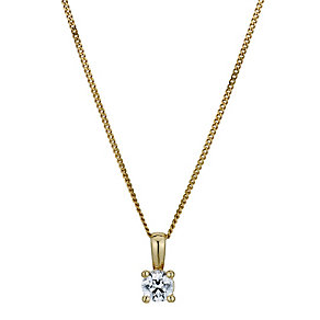 Silver & 18ct Gold Plated Swarovski Zirconia Pendant - Product number 9264981