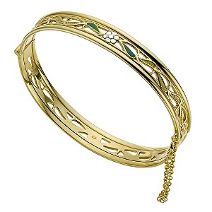 9ct Yellow Rolled Gold Daisy Bangle - Product number 9266518