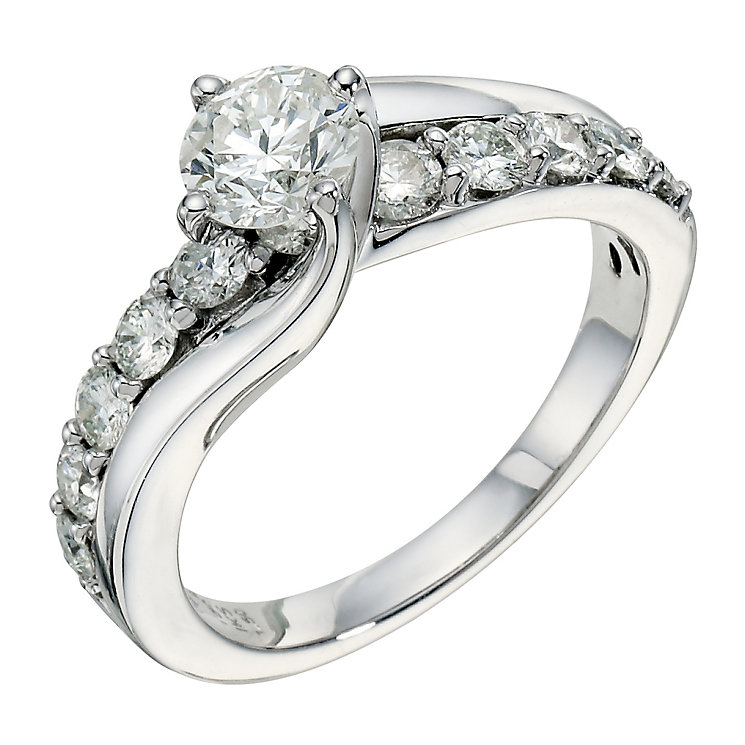 18ct white gold one and a 0.50ct diamond ring - Product number 9267069