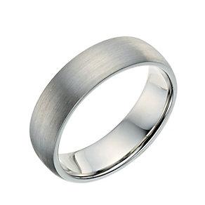 Palladium 950 6mm satin court ring - Product number 9268707