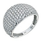 9ct white gold cubic zirconia dome ring - Product number 9269436