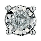 Men's 9ct white gold diamond stud earring - Product number 9271082