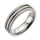 Men's titanium matt and polished ring - Product number 9271589