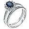 18ct white gold sapphire & diamond bridal set - Product number 9272615