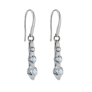 9ct white gold made with Swarovski zirconia trilogy earrings - Product number 9274200