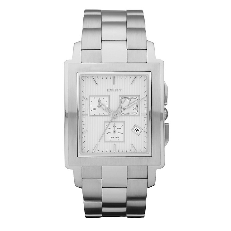 DKNY Men's Silver Square Dial Bracelet Watch - Product number 9274359