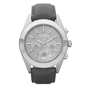 DKNY Men's Grey Strap Watch - Product number 9274405