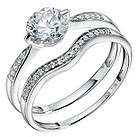 9ct white gold made with Swarovski zirconia bridal set - Product number 9276378