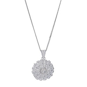 Platinum & Silver Beaded Flower Pendant - Product number 9276580