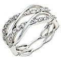 Silver Cubic Zirconia Weave Ring Size N - Product number 9276610