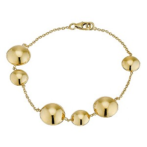 9ct yellow gold bubbles bracelet - Product number 9276629