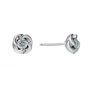 9ct white gold 0.30 carat diamond stud earrings - Product number 9276742